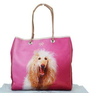 Anya Hindmarch Nylon,Leather Tote Bag Pink